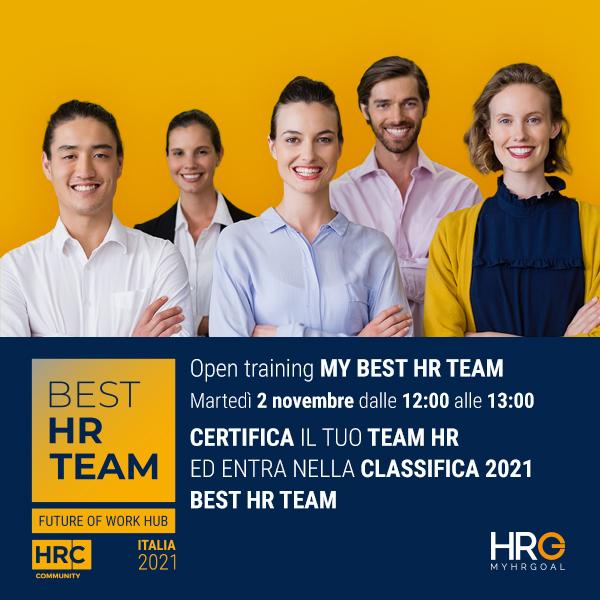 Open training BEST HR TEAM - Certifica il tuo Team HR!